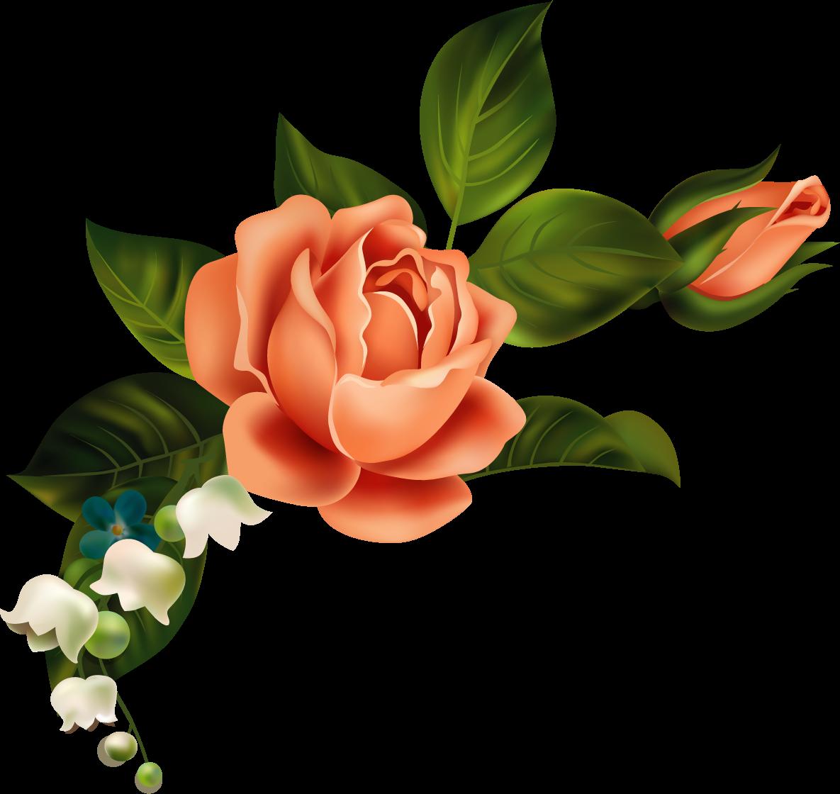 scrapbook clipart modern flower