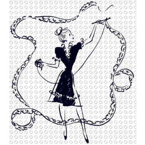 Crochet clipart vintage crochet. Peacefully knitting clip art