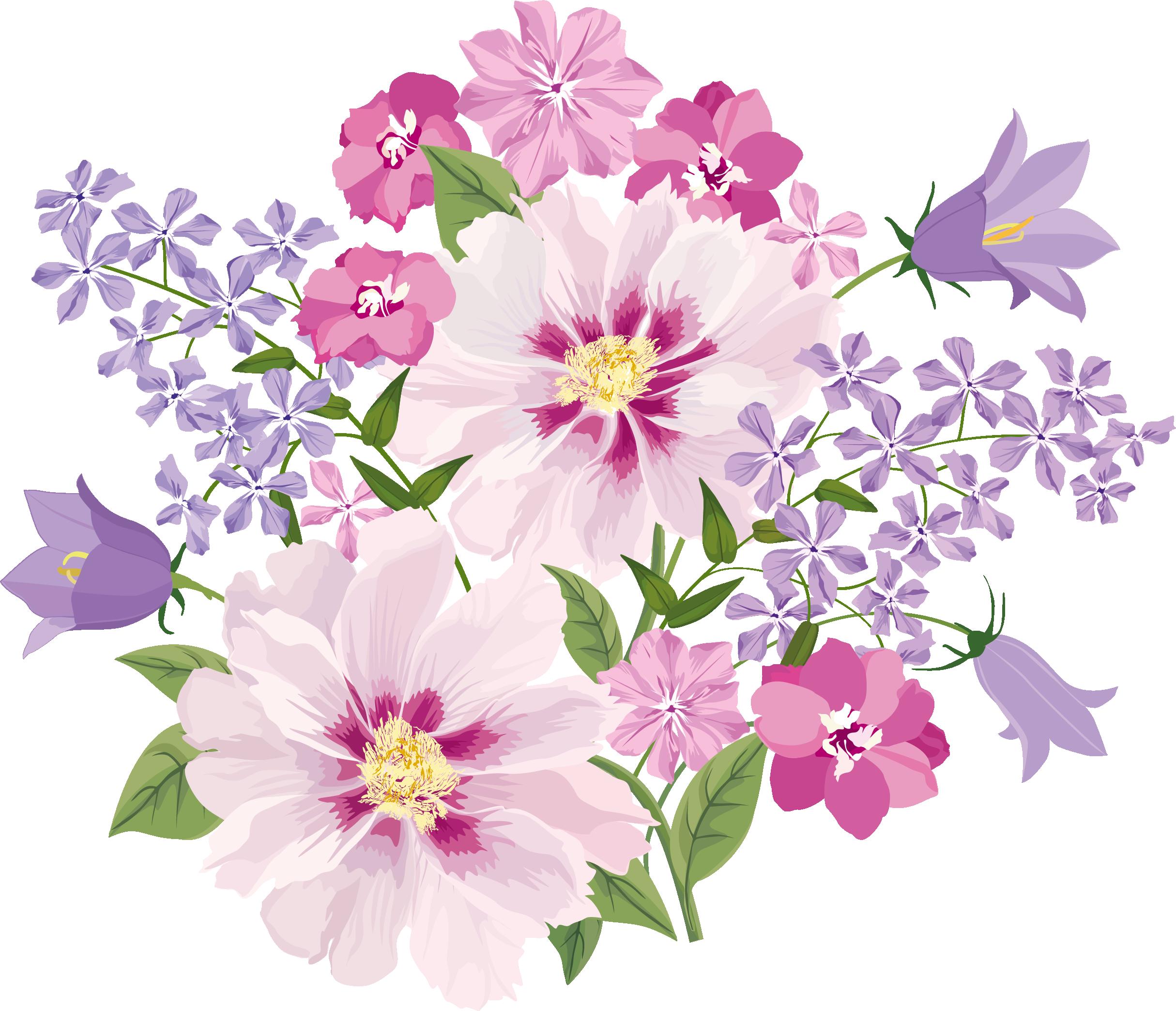 Freedesignfile com flowers decoupage. Square clipart floral