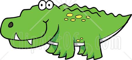 Crocodile clipart. Cute graphic illustration royalty