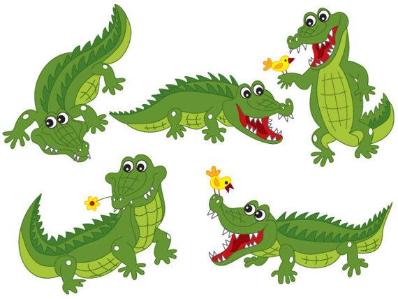 Digital vector africa safari. Crocodile clipart