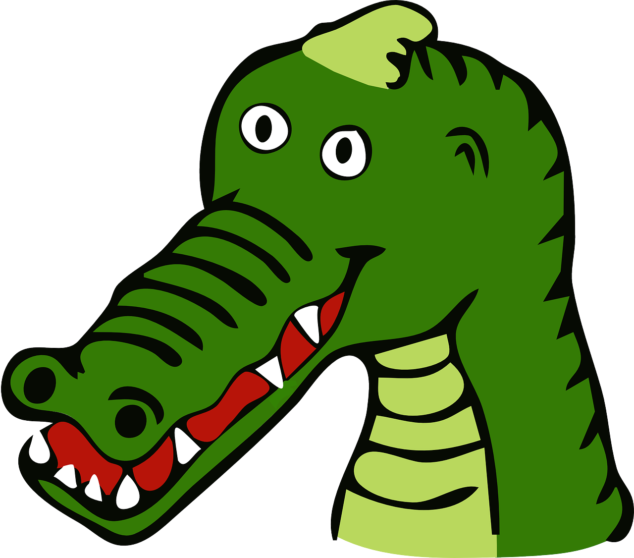 How to age better. Crocodile clipart bad