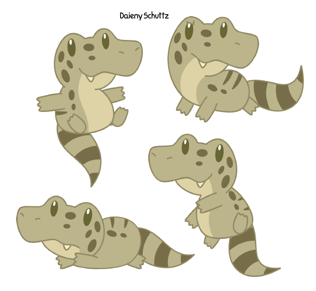 Crocodile clipart caiman. Chibi broad snouted by