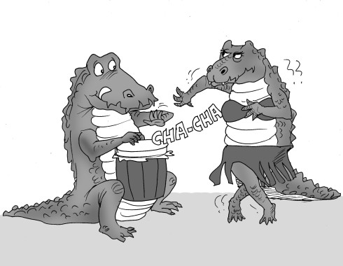 Chacha cartoon by bladimer. Crocodile clipart editorial cartooning