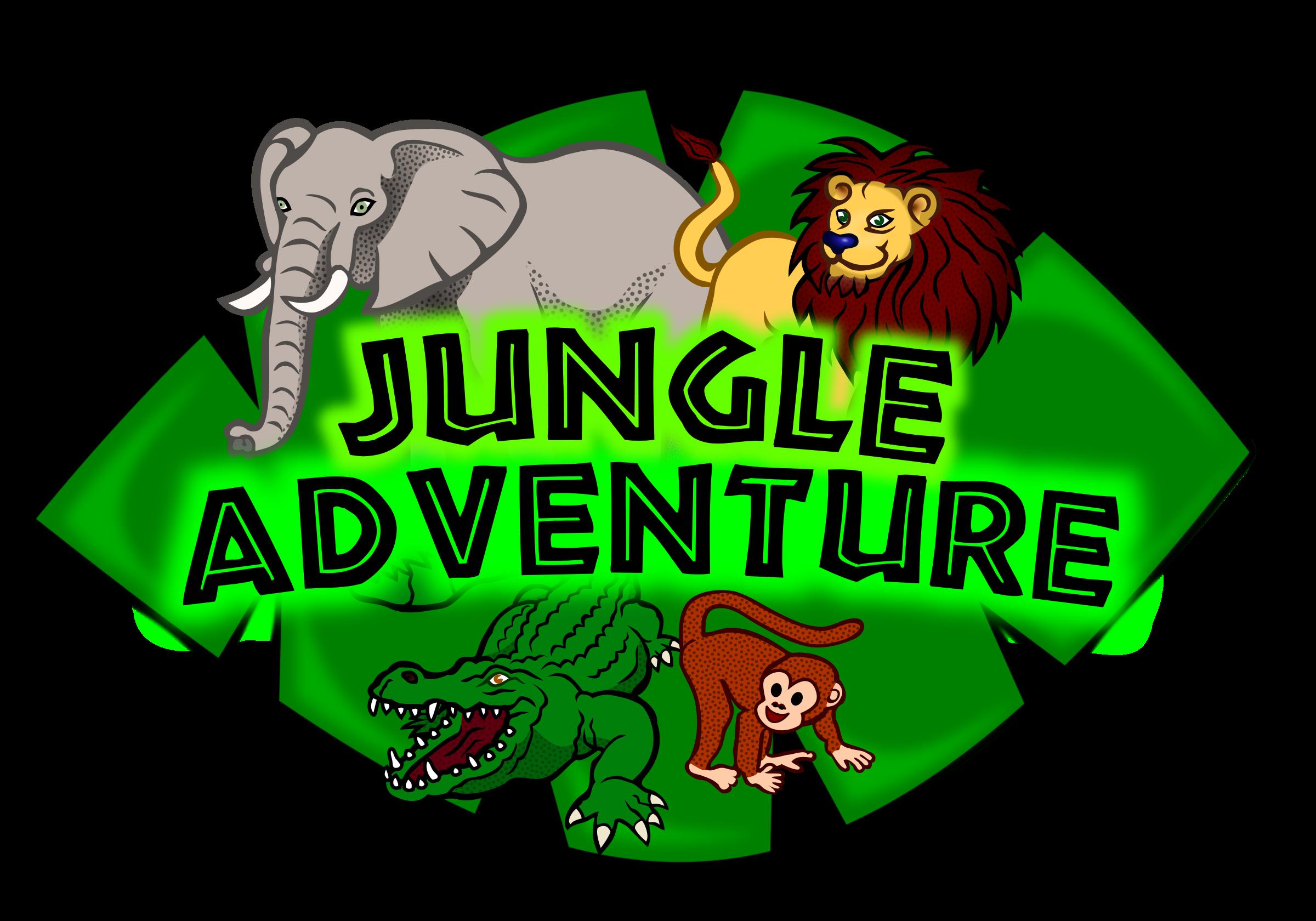 Jungle clipart crocodile. Adventure kids club logo