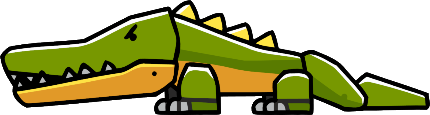 Scribblenauts wiki fandom powered. Crocodile clipart swimming