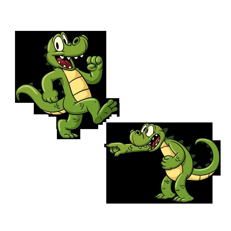 Crocodile clipart toon. Alligator sticker decal transprent