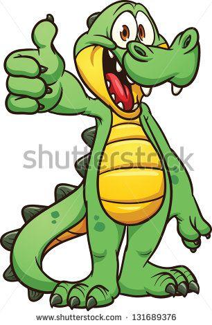 Crocodile clipart toon. Cartoon vector clip art