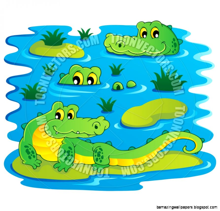 In portal . Crocodile clipart water