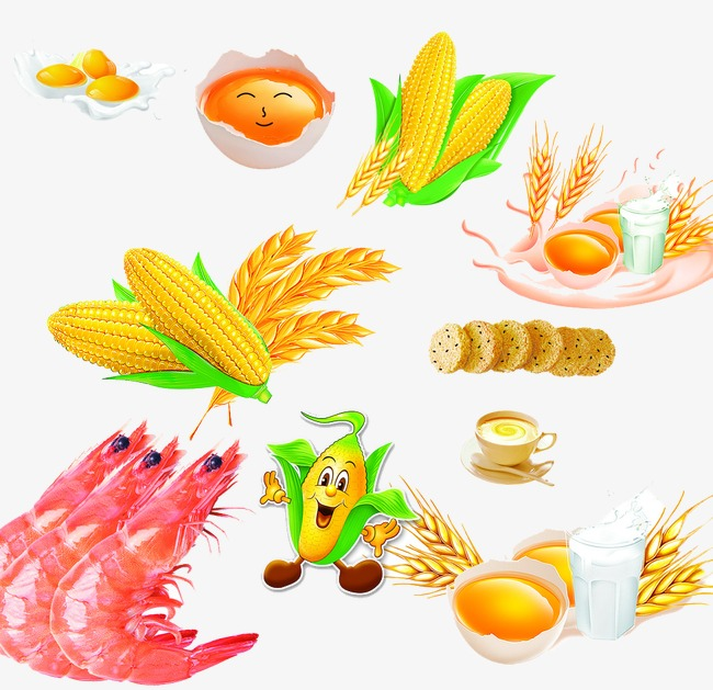 Crops clipart. Cartoon corn people png