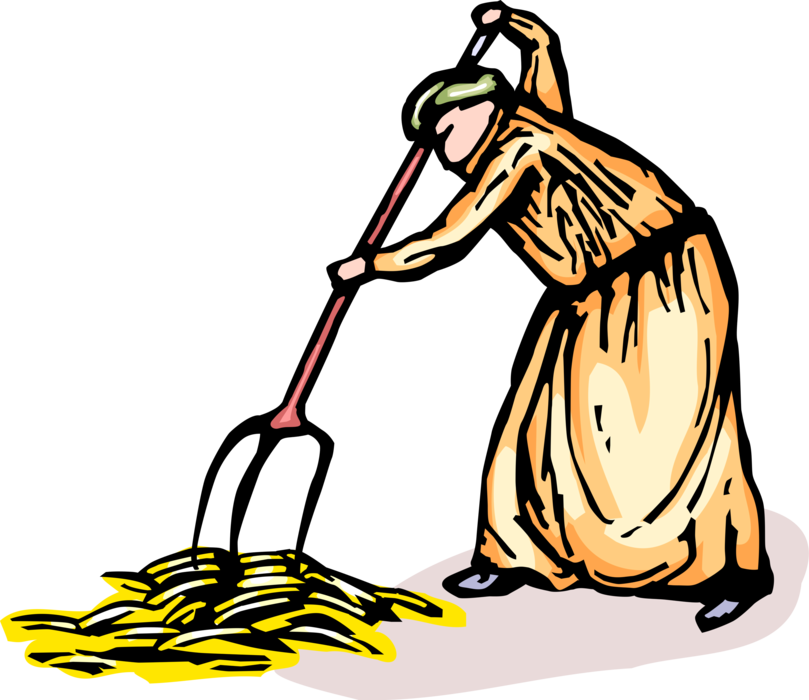 Gathers wheat harvest with. Farmers clipart farmer harvesting crop