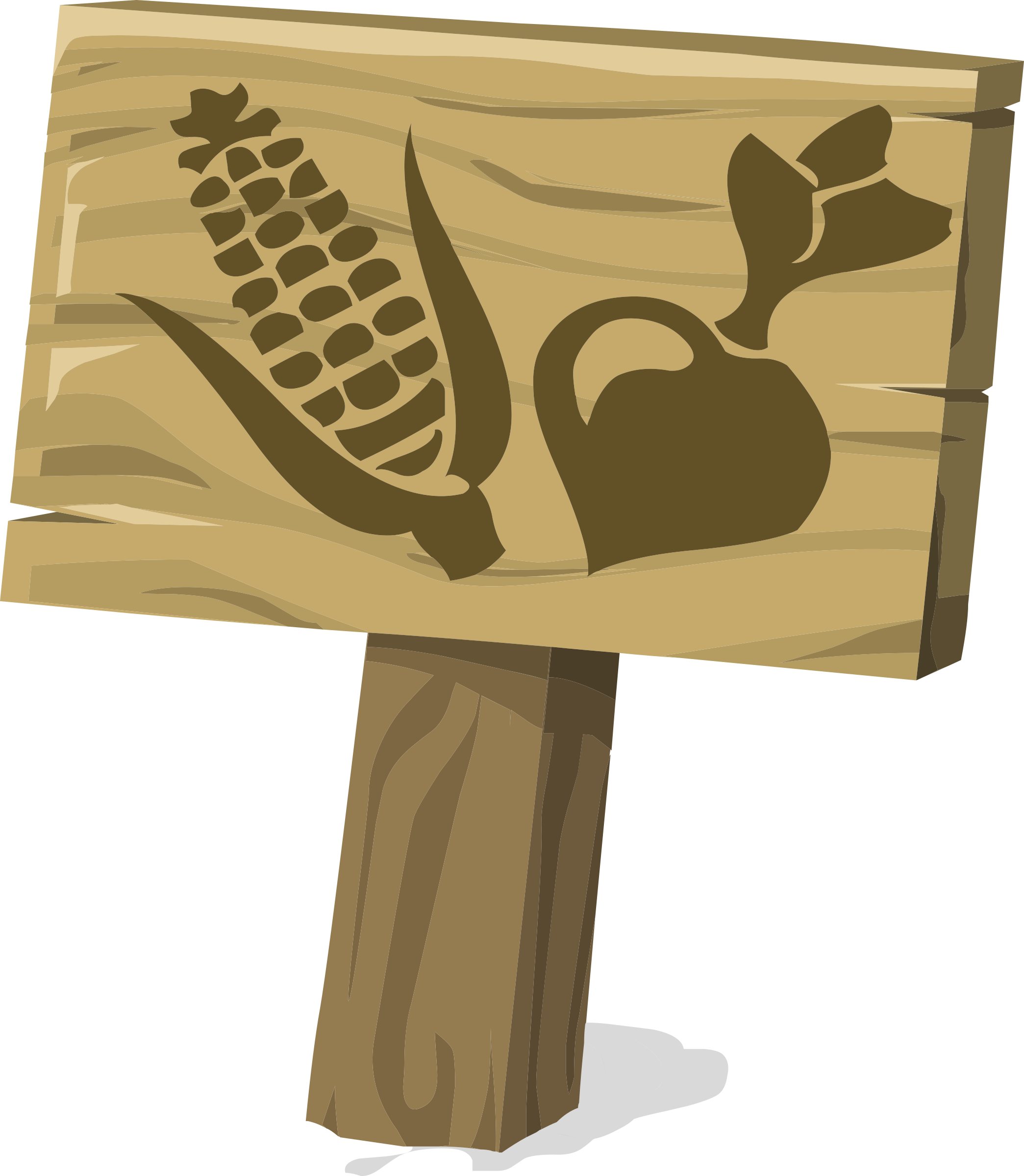 Ilmenskie garden sign crop. Crops clipart clip art