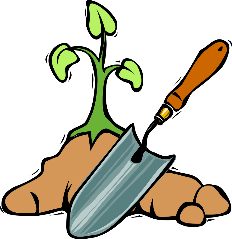 Community garden projects sustainable. Gardening clipart city