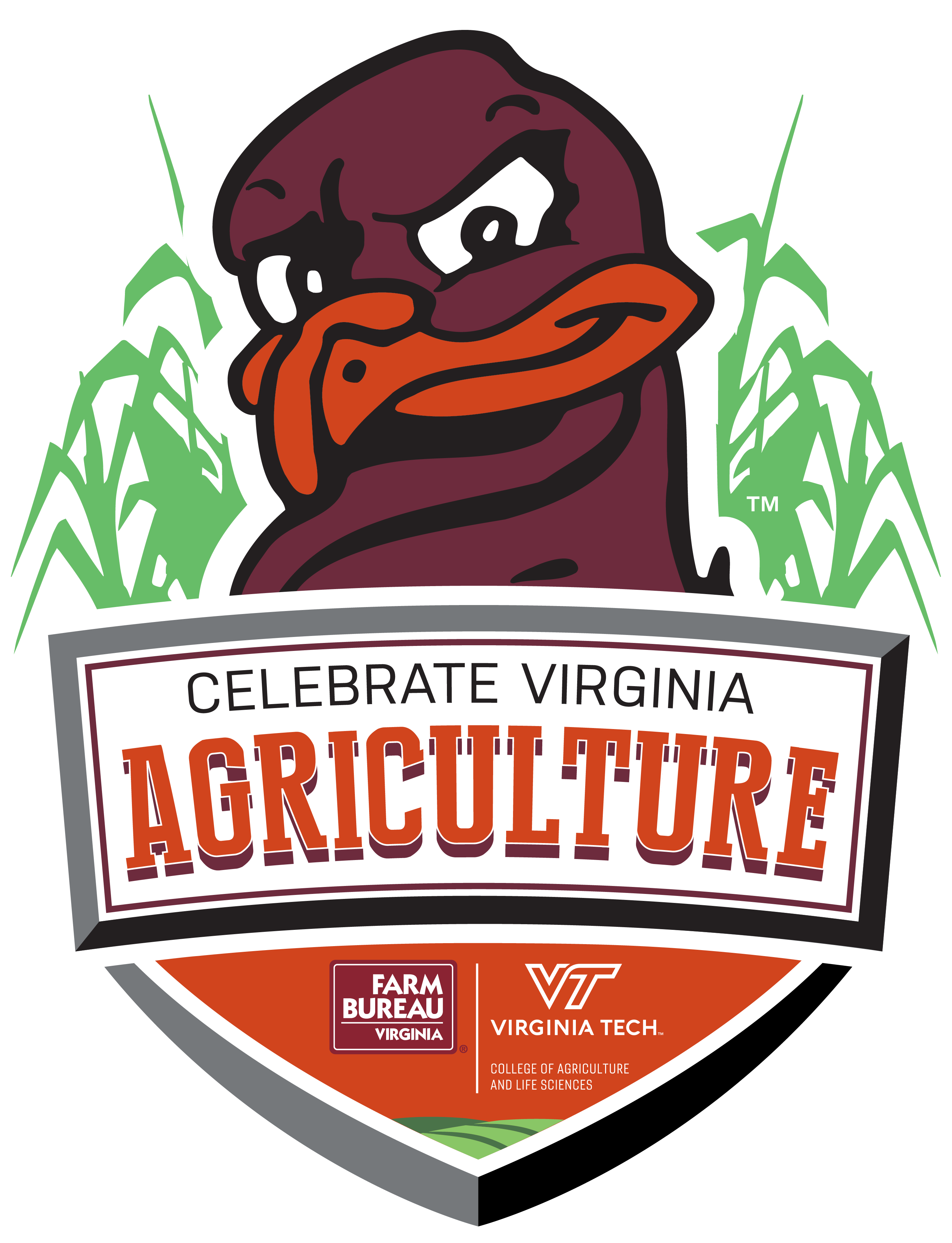Farming clipart agriculture logo. Virginia tech day sponsored