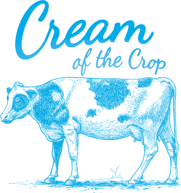 Cream of the crop. Pioneer clipart cow
