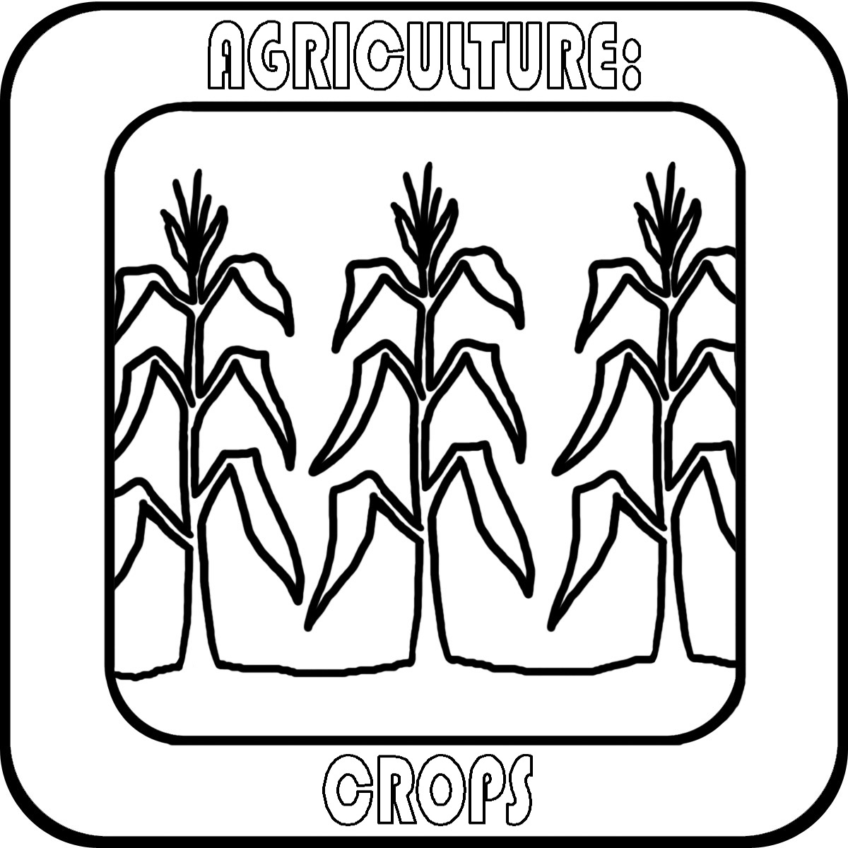 Farm black and white. Crops clipart drawing
