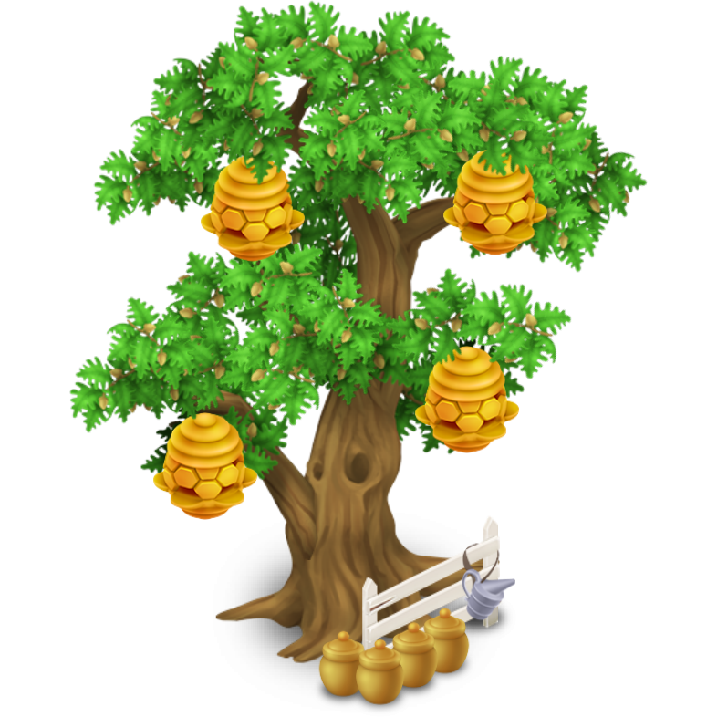 Nest clipart honey. Image beehive tree stage