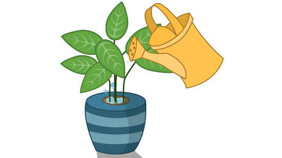 How to grow healthy. Outside clipart plant