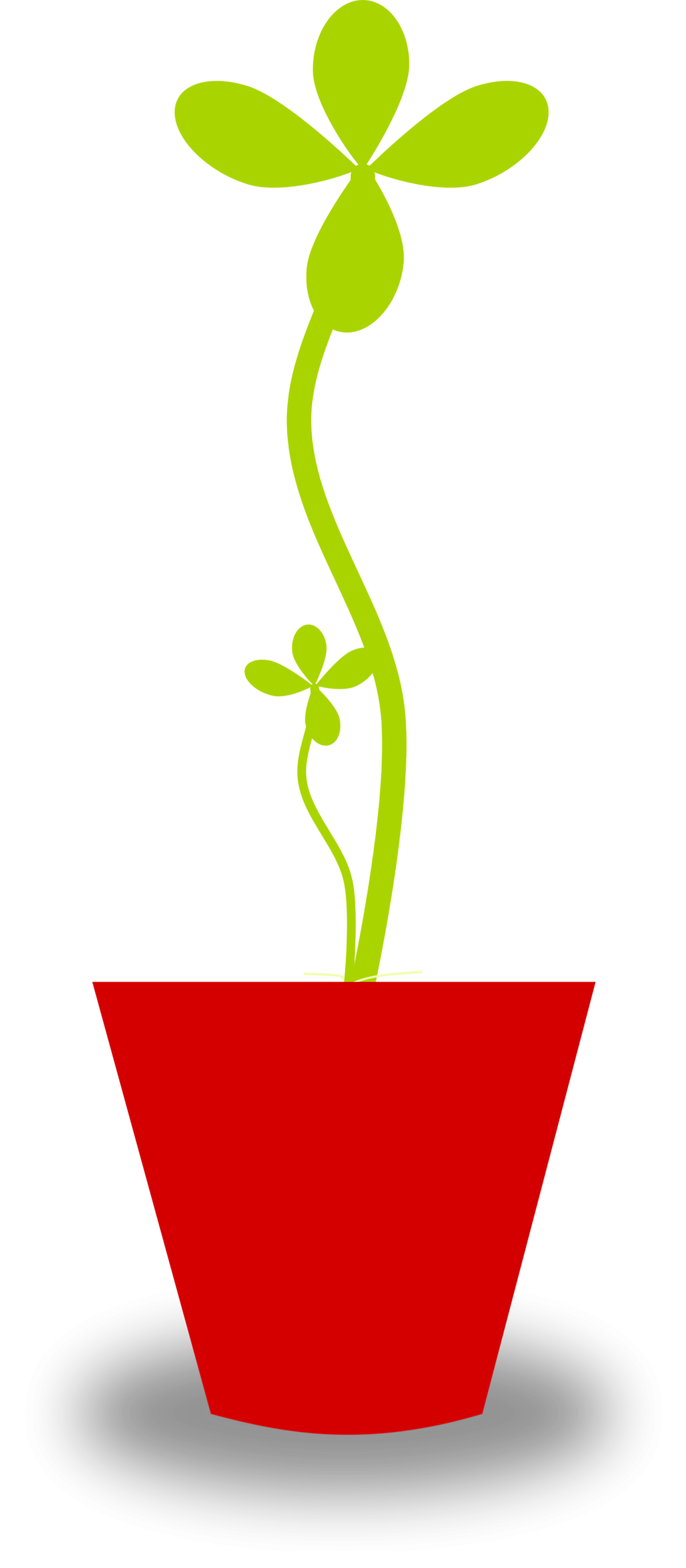 Plants clipart potted plant. Free stock photo illustration