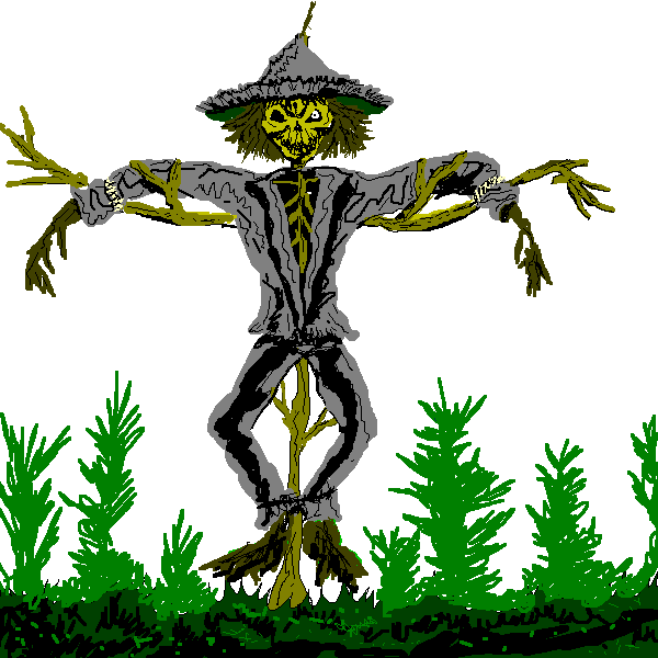 Scary Scarecrow Clipart