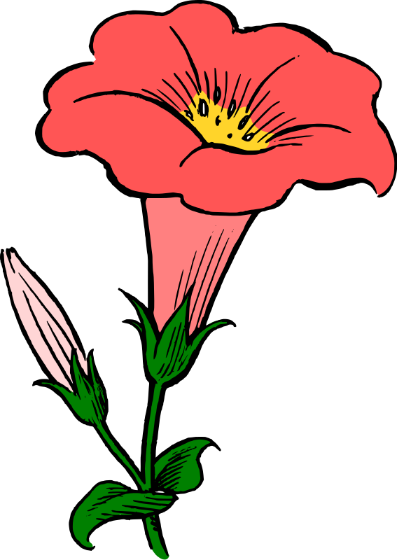 Crops clipart spring. Red flowers clip art