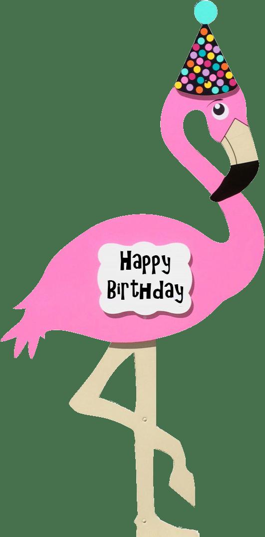 Foot clipart flamingo. Kids birthday yard signs