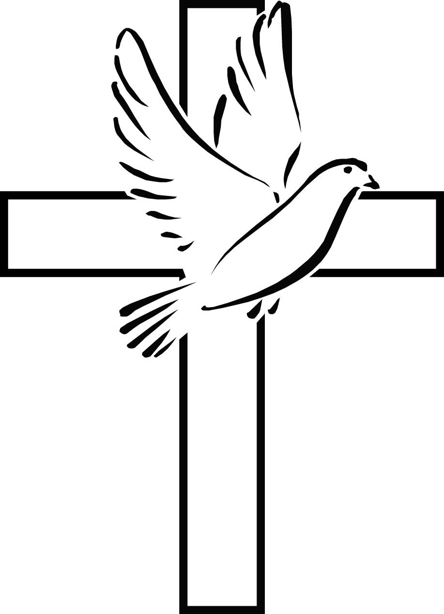 Christian clipart easy. Holy spirit dove clip