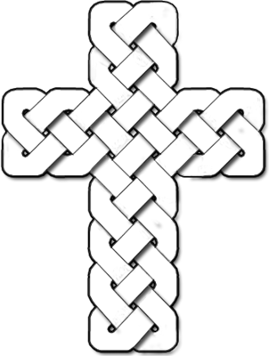 Cross clip art black and white. Image celtic christart com