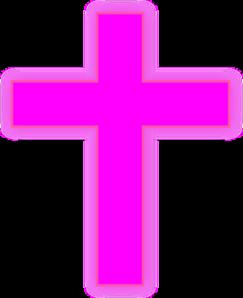 Cross clip art communion. Pink at clker com