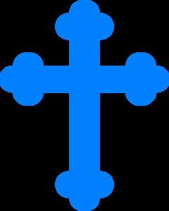 Blue at clker com. Cross clip art communion