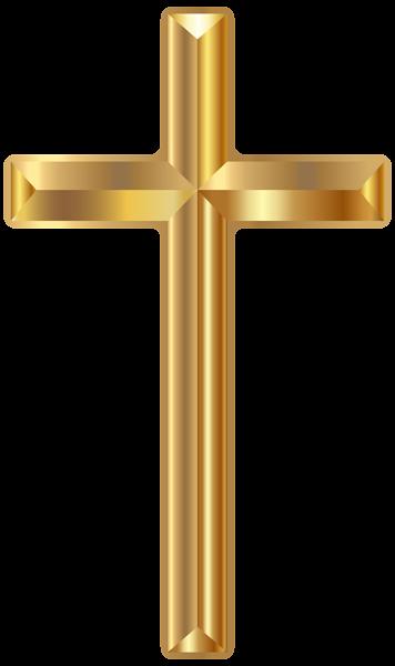 Gold png transparent image. Cross clip art crucifixion