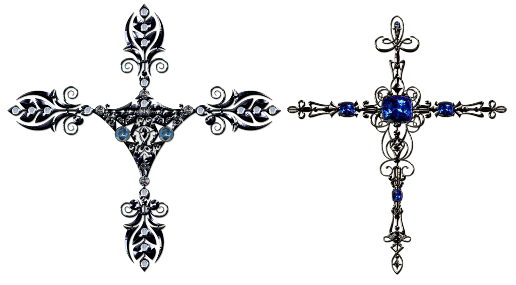 Decorative crosses by lyotta. Clipart cross patterned