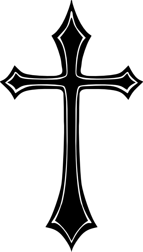 Cross vector png. Gothc clipart holy free