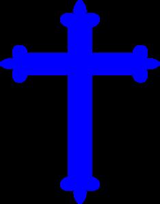 Blue clipart . Cross clip art fancy