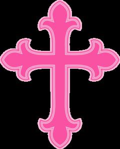 Pink communion pinterest. Cross clip art fancy