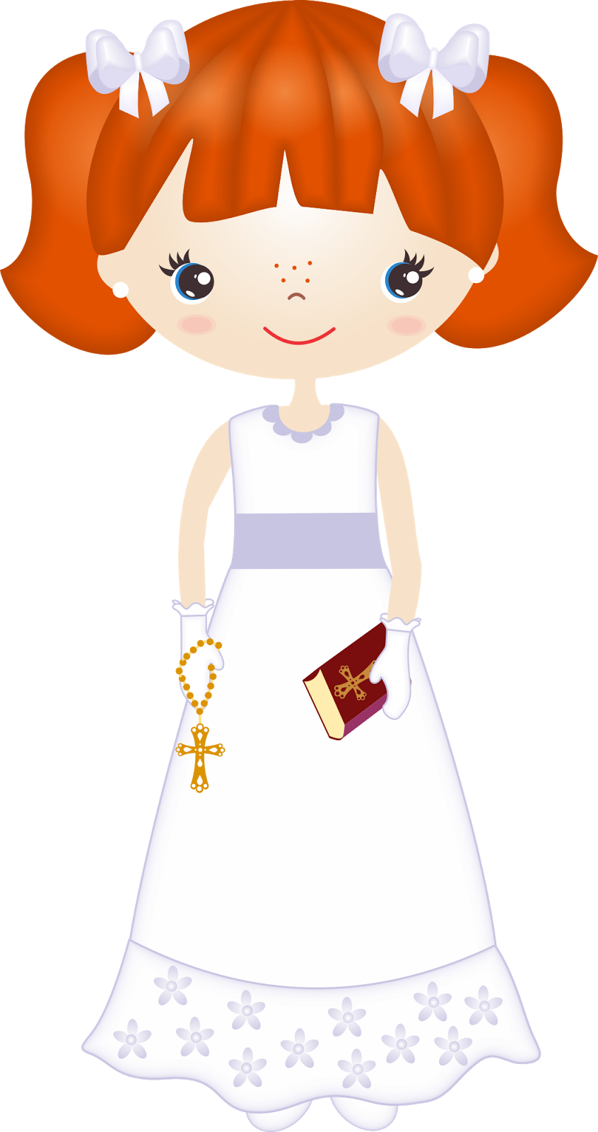 Clipart de nenas en. Cross clip art first communion