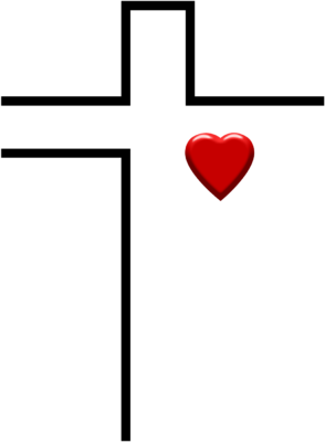 Image in christart com. Cross clip art heart