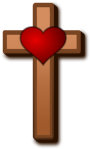 Love at clker com. Cross clip art heart
