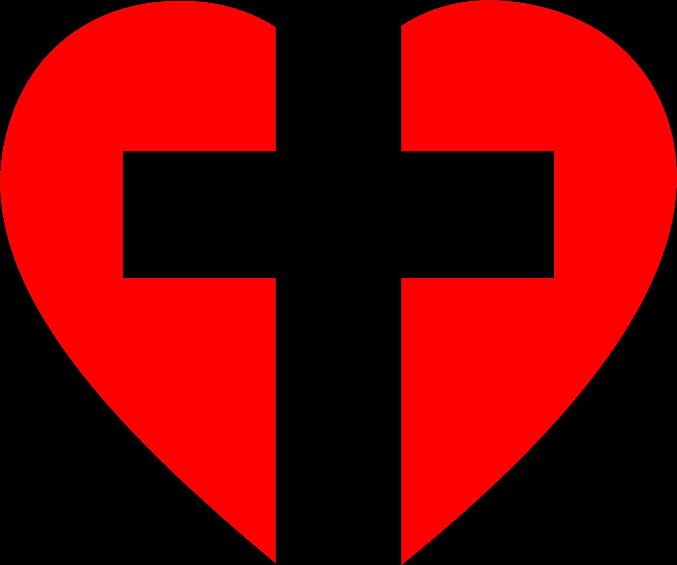 Cross clip art heart. Clipart big image png