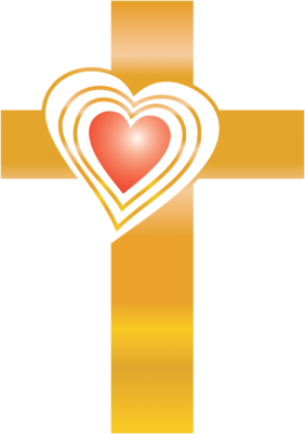 Image gold christart com. Cross clip art heart