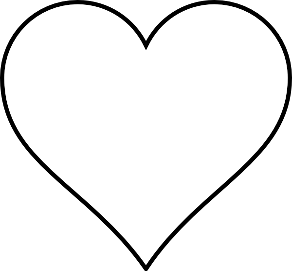 Square clipart outlined. Heart outline clip art
