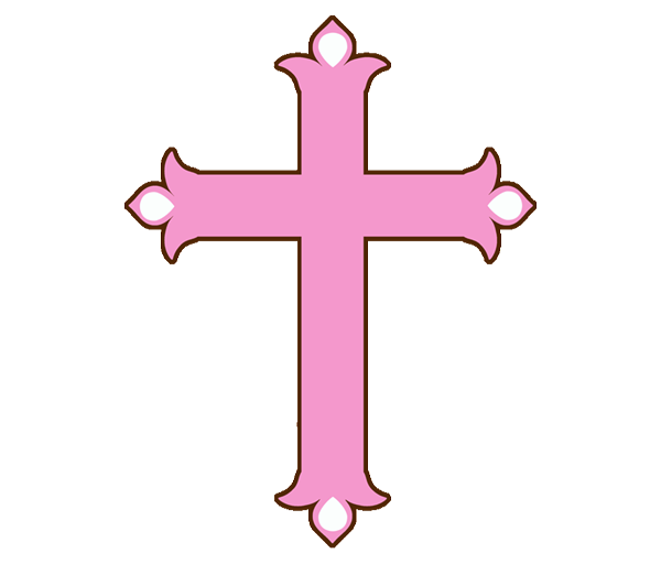Baptism cross for girl. Confirmation clipart crucifix