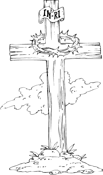 Cross clip art line drawing. Crosses at getdrawings com
