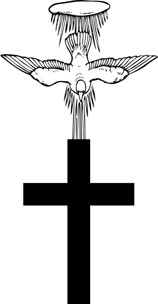 Cross clip art memorial cross. With holy spirit descending