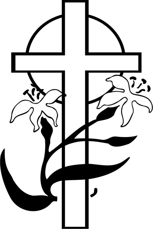 Resurrection cross clip art. Funeral clipart black and white
