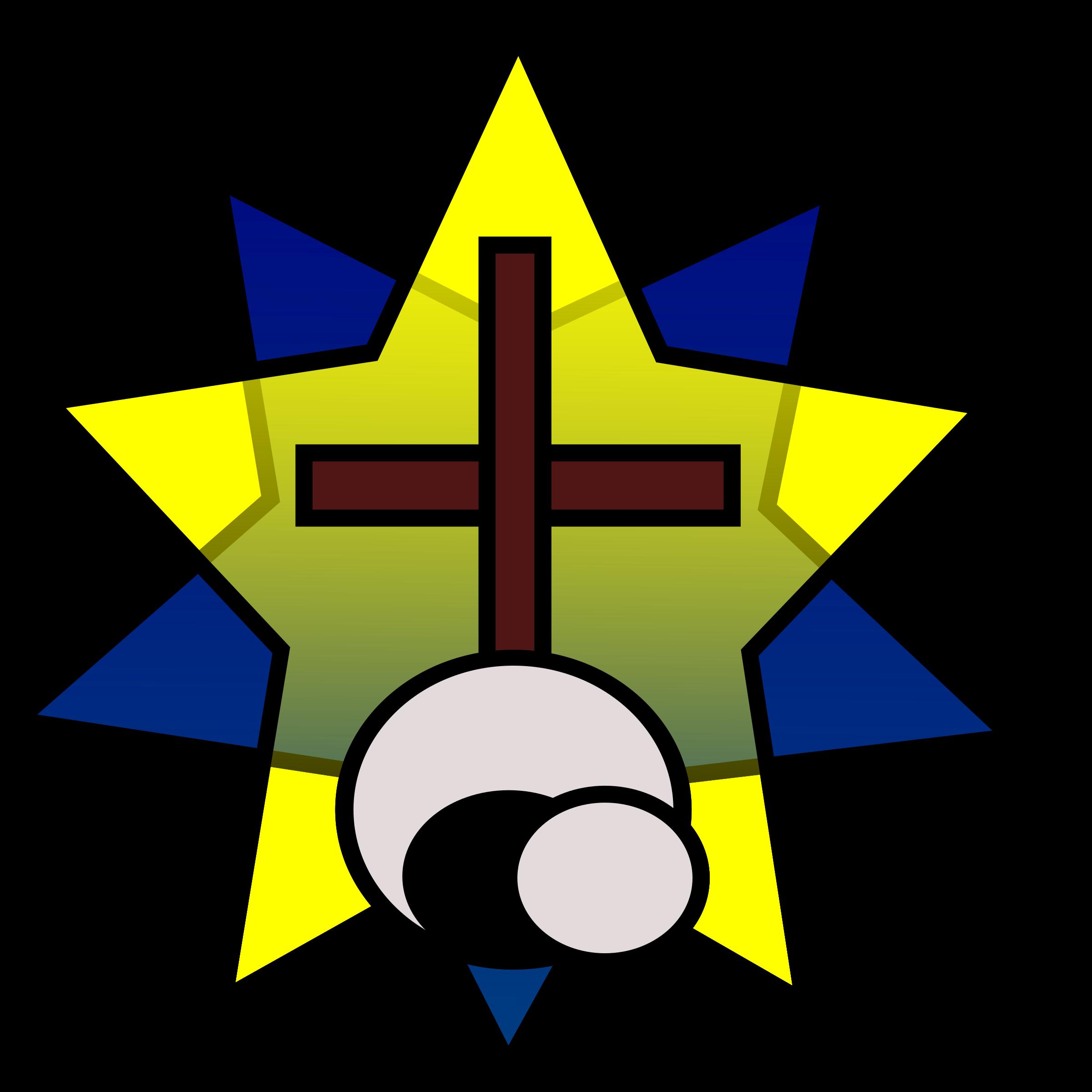 Clipart symbolism star empty. Cross clip art resurrection