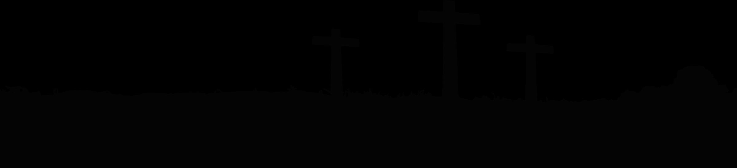 Clipart crosses landscape big. Cross clip art silhouette
