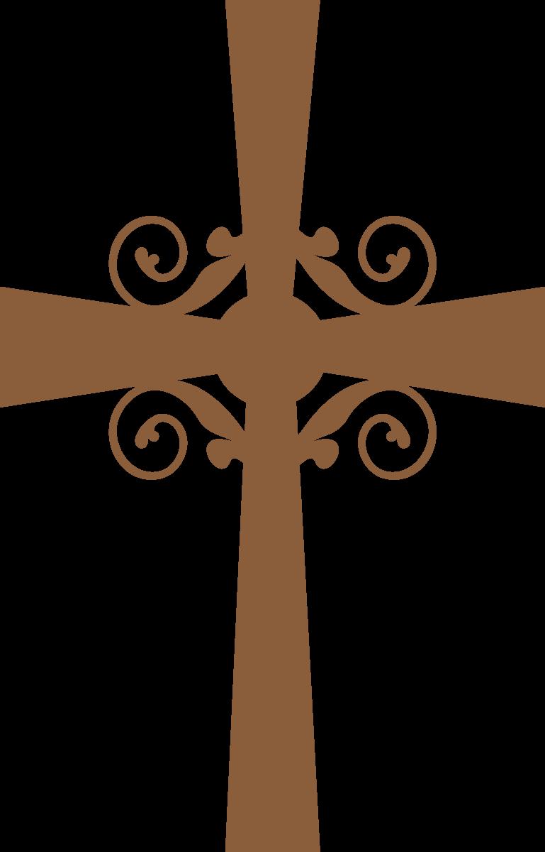 De siluetas primera comuni. Lace clipart cross
