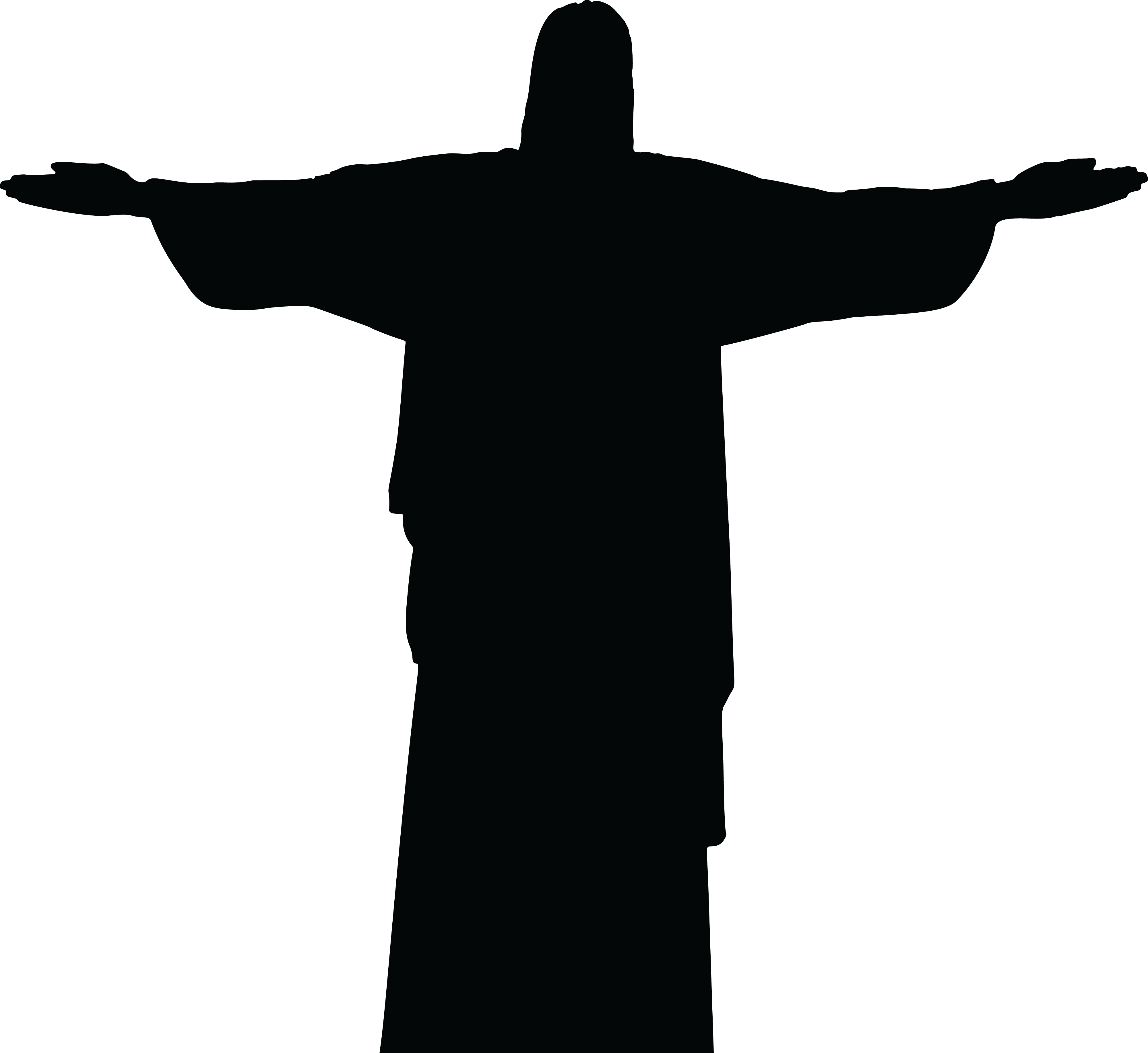 Cross clip art silhouette. Jesus carrying at getdrawings