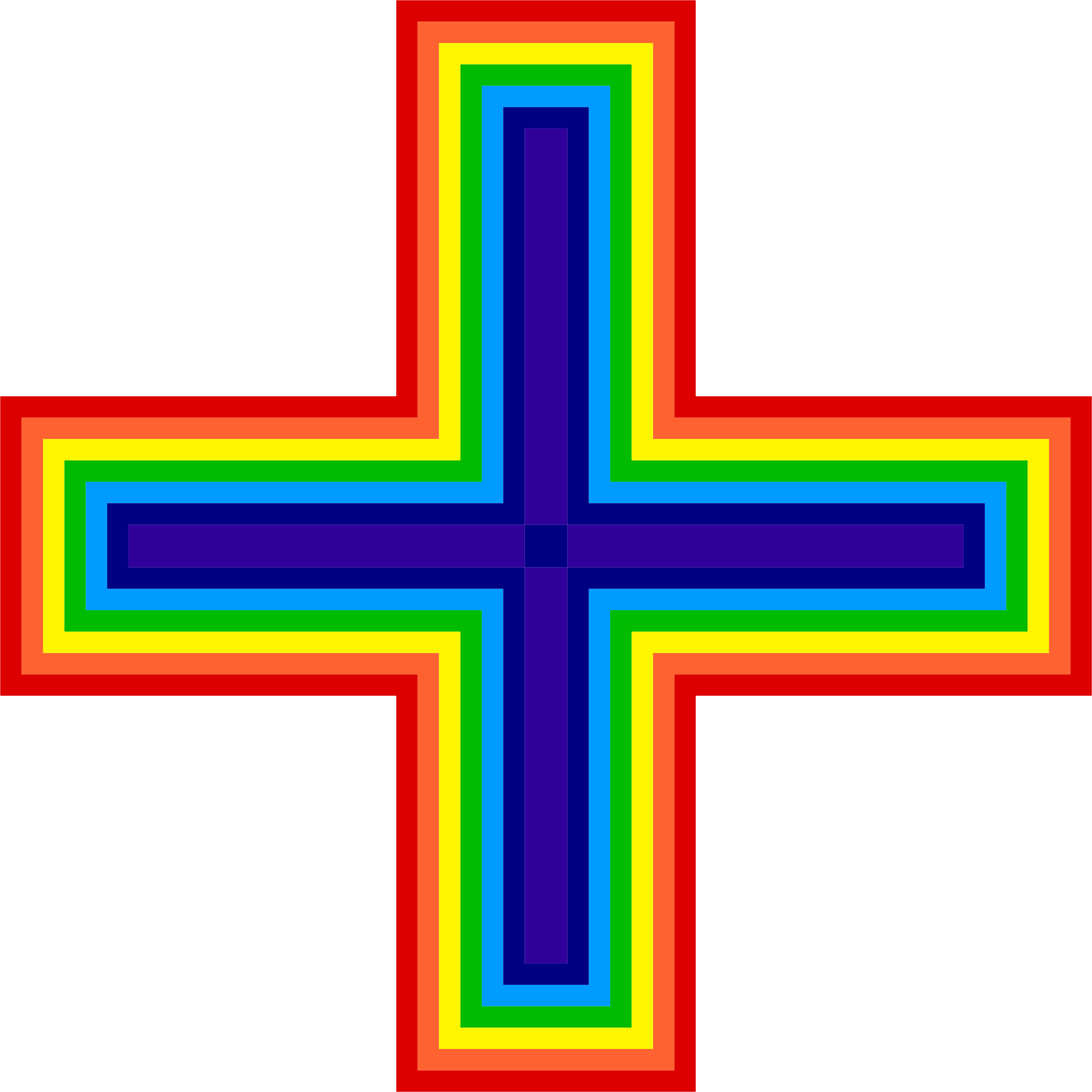 Rainbow icons png free. Clipart cross blue